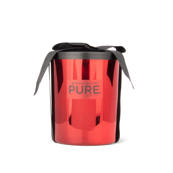Large Metal Candle - Red - Red Rose - The Grain Shop Online Store
