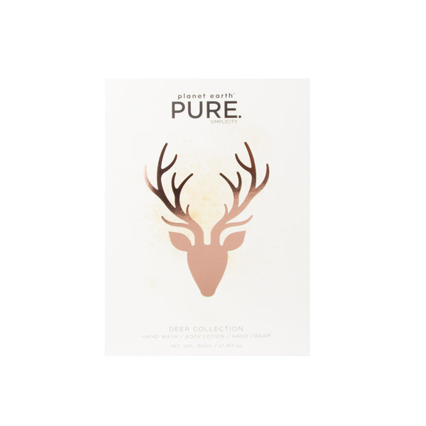 Pure body care gift deer collection front white box