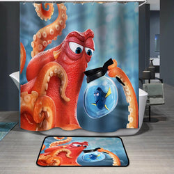 Finding Dory Octopus Shower Curtain