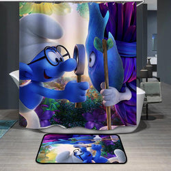 Smurfette Brainy Smurf Shower Curtain
