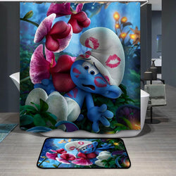 Smurfette Clumsy Smurf Shower Curtain