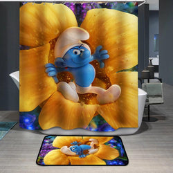 Smurfette Hefty Smurf Shower Curtain