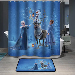Frozen Elsa Anna Christmas Shower Curtain