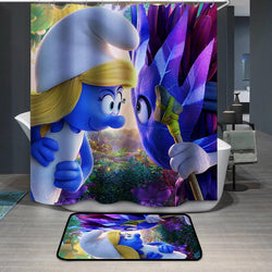 Smurfette Girl Smurfs Shower Curtain