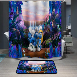 Smurfs Characters Shower Curtain