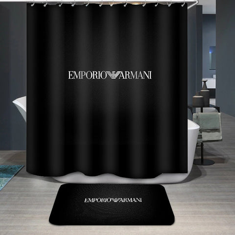 Armani Logo Custom Shower Curtain