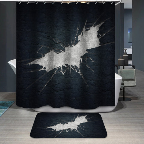 Batman Logo Custom Shower Curtain