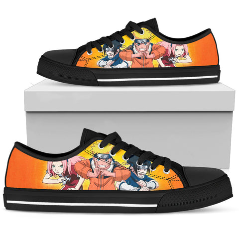 Hokage Naruto 2- Men's Low Top Canvas Shoes