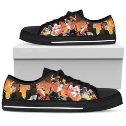 Hokage Naruto 9- Men's Low Top Canvas Shoes