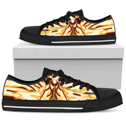 Hokage Naruto 8- Men's Low Top Canvas Shoes