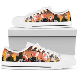 Hokage Naruto 9- Women's Low Top Canvas Shoes