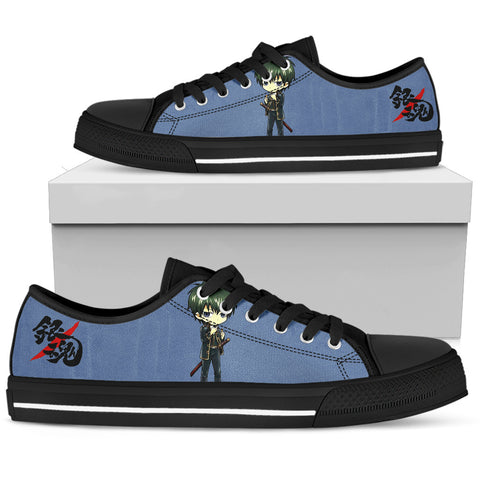 GINTAMA Hijikata Toushirou -Men's Low Top Canvas Shoe