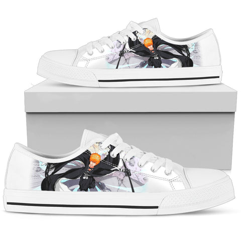 BLEACH Kurosaki Ichigo 2 -Women's Low Top Canvas Shoe