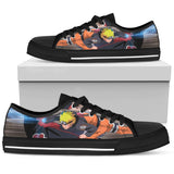 Hokage Naruto 4- Men's Low Top Canvas Shoes