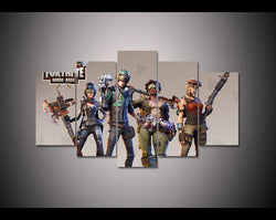 Fortnite Battle Royale Game Soldiers - 5 Piece Canvas Wall Art