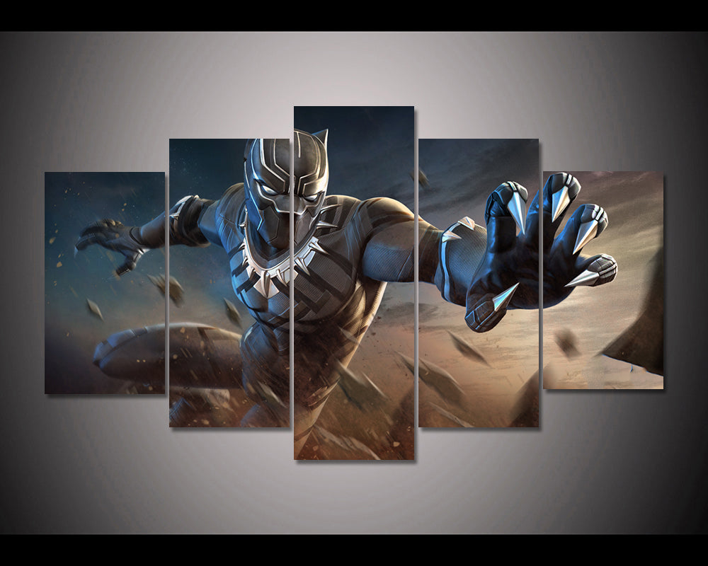 Black Panther Marvel Contest Of Champions 5 Piece Canvas