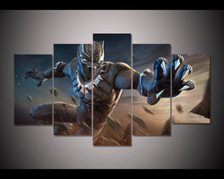 Black Panther Marvel Contest Of Champions - 5 Piece Canvas Wall Art