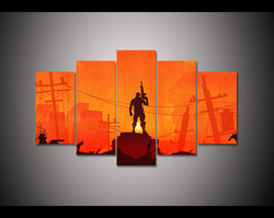 Fortnite Battle Royale Soldier - 5 Piece Canvas Wall Art