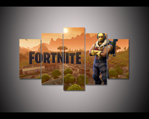 Fortnite Battle Royale 5 Piece Canvas Wall Art Itdayshop