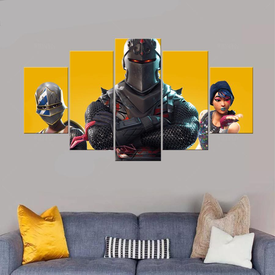 Fortnite Battle Royale Game Anime 5 Piece Canvas Wall