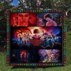 Stranger Things Custom Printed Summer Quilt Blanket
