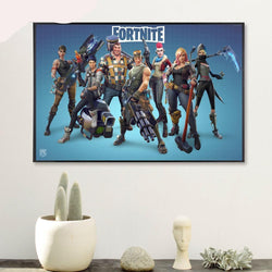 Fortnite 3D Battle Royale Characters #5 - 1 Piece Canvas Wall Art