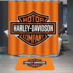 Harley Davidson Motor Company Logo Custom Shower Curtain
