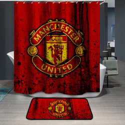 Manchester United Logo Custom Shower Curtain