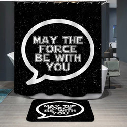 May the Force Be With You Custom Shower Curtain