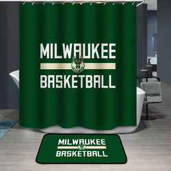 Milwaukee Basketball Custom Shower Curtain