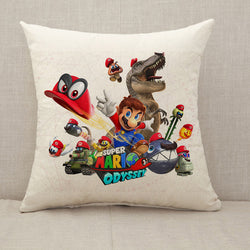 Super Mario Throw Pillow Cushion Cover [Fillings Included]