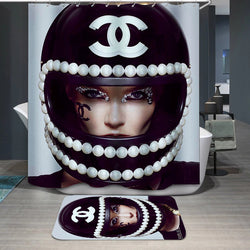 COCO Chanel Style Custom Shower Curtain