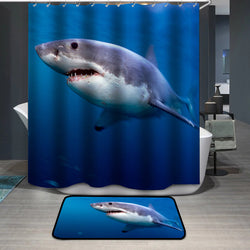 Animal Shark Custom Shower Curtain