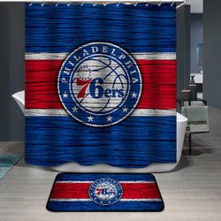 Sixers 76ers Custom Shower Curtain