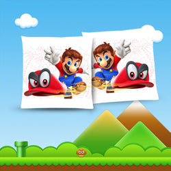 Super Mario Odyssey Throw Pillow Cushion 4 [Cover+Insert] Accept Custom Orders