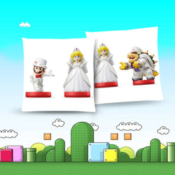 Super Mario Odyssey Throw Pillow Cushion -- amiibo [Cover+Insert] Accept Custom Orders