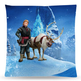 Frozen Snow Queen Elsa and Anna Throw Pillow Cushion 2 [Cover+Insert] Accept Custom Orders