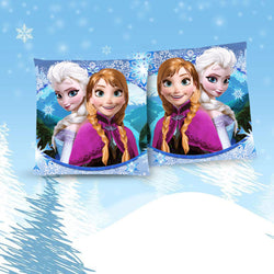 Frozen Snow Queen Elsa and Anna Throw Pillow Cushion 3 [Cover+Insert] Accept Custom Orders