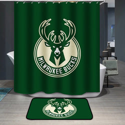 Milwaukee Bucks Logo Custom Shower Curtain
