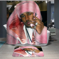 POP Style Cam'ron Pink Hat Haze Custom Shower Curtain