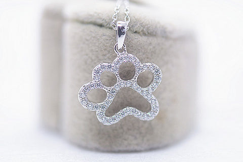 925 Silver Footprint Necklace