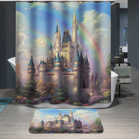 New Day At The Disney Cinderella Castle Custom Shower Curtain
