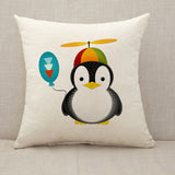Adelie Penguin Throw Pillow Cushion Cover [Fillings Included]