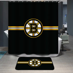 Boston Bruins Logo Custom Shower Curtain