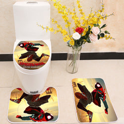 Spider-Man: Into the Spider-Verse Toilet Rug Lid Cover 3 Piece Bath Mat Set