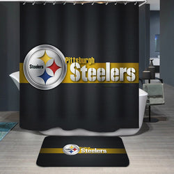 NFL Steelers Football Team Logo Custom Shower Curtain