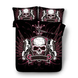 3D Skull Gothic Skeleton Custom Bedding Set Duvet Cover