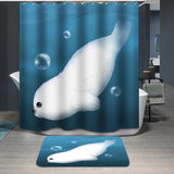 Animal Harp Seal Sea Lion Cartoon Printed Custom Shower Curtain