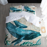 3D Digital Printing Sea Turtle Custom Bedding Set Duvet Cover