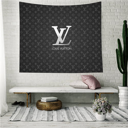 Luxury Louis Vuitton Logo Custom Printing Tapestry
